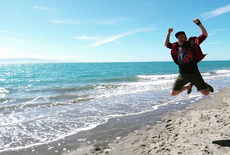 Ocean leap with Nate in NZ