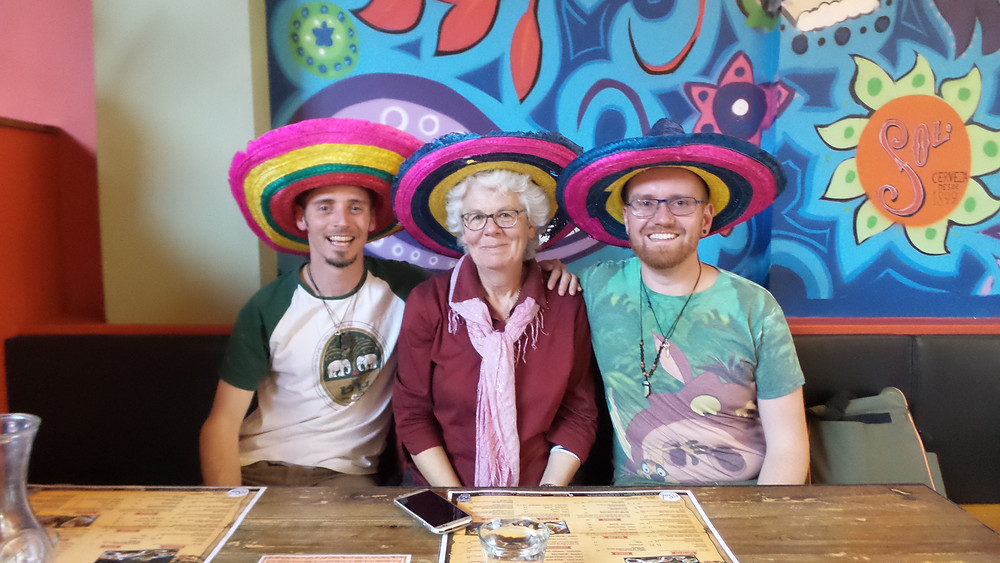 Mexican fun with our friend Kathleen