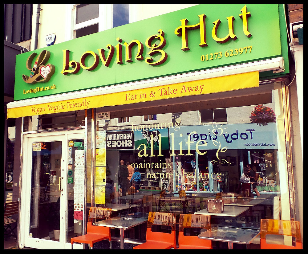 Loving Hut vegetarian restaurant, Brighton