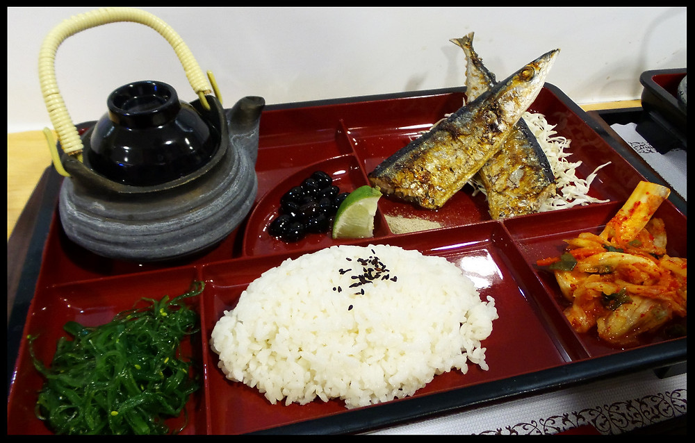 A Japanese style bento in Taiwan