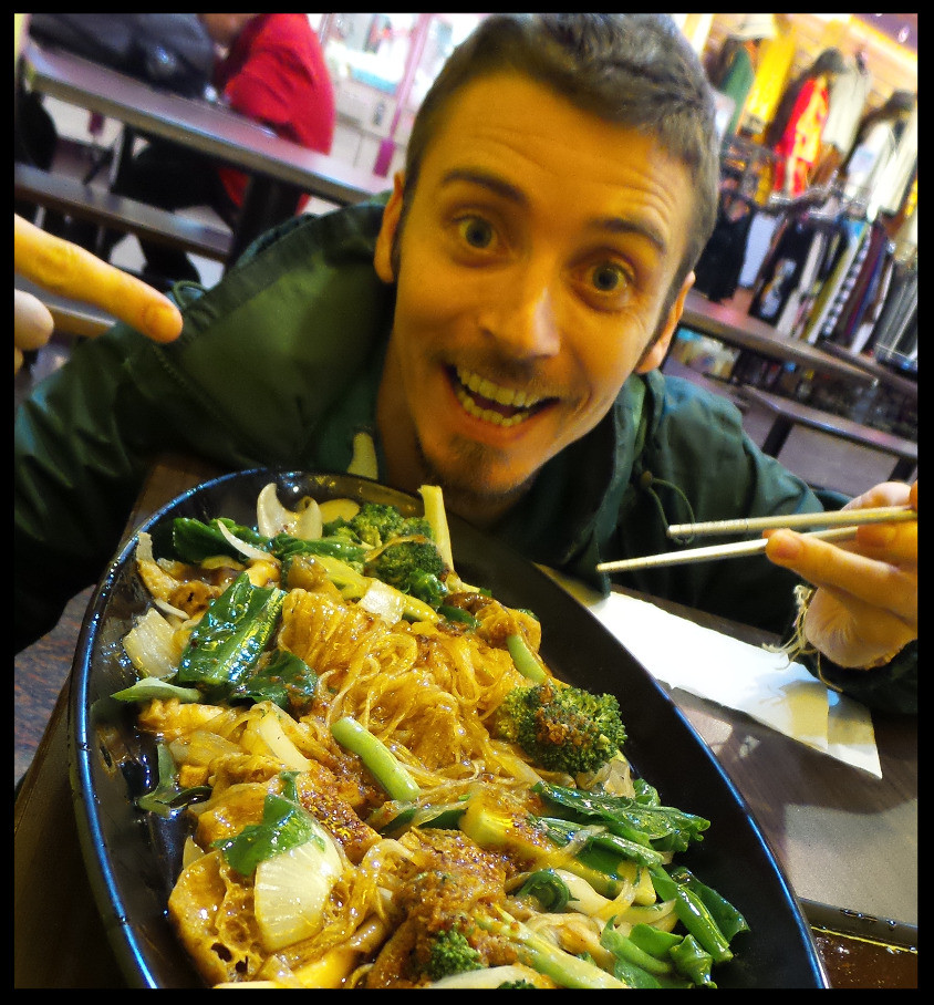 Stir-fried vegetables and noodles in Kenting, Taiwan