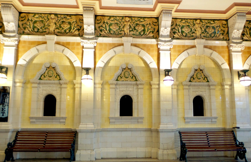 The old ticket windows at Dunedin Railway Station