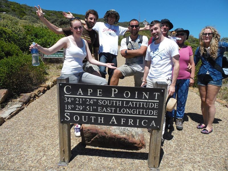 At Cape Point with the tour group