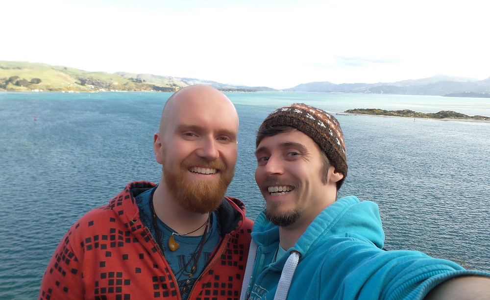 Mark and Nate on the Otago Peninsula