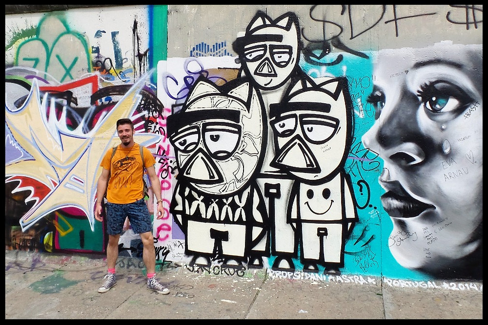 Graffiti on the Berlin Wall, East Side Gallery