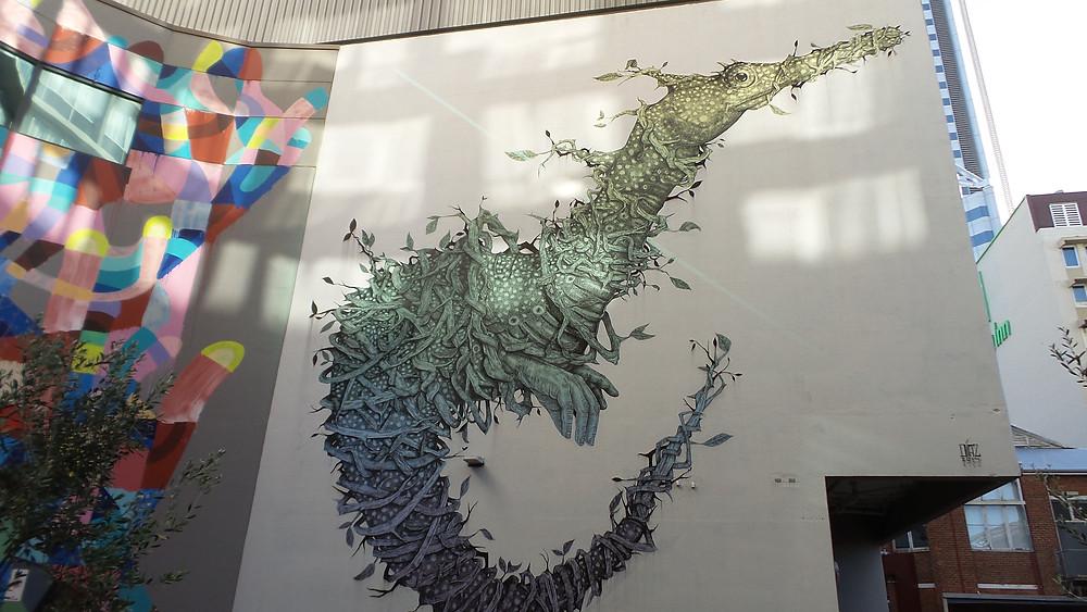 Street mural in Perth, WA