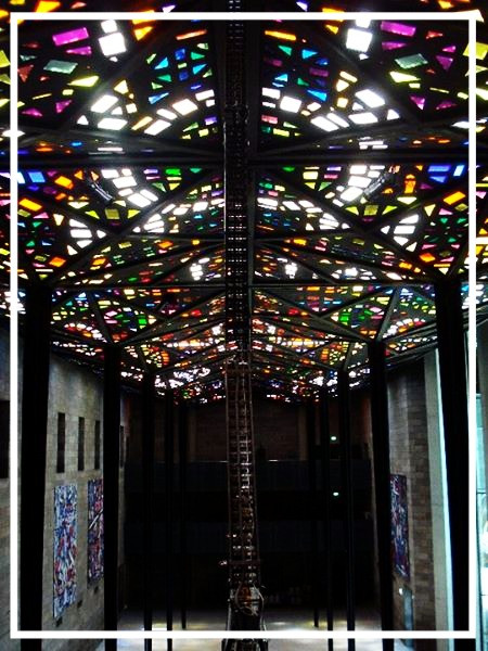 Stained-glass ceiling in the National Gallery of Victoria