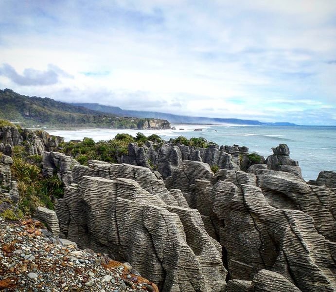 Pancake Rocks on South Island NZ