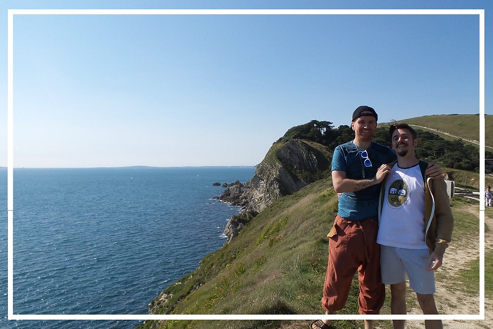 Nate and Mark at Lulworth Cove Dorset