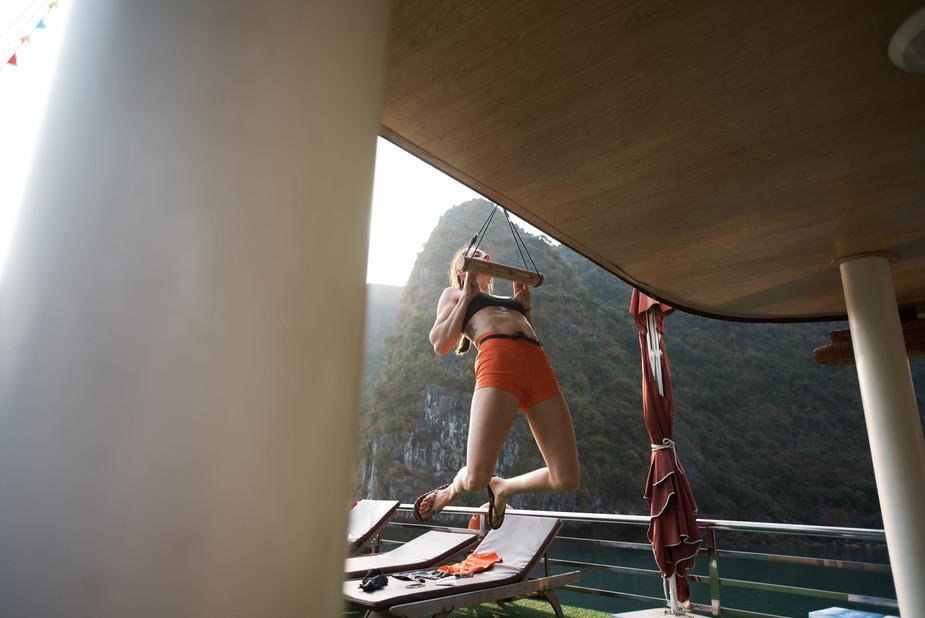 Deep water solo in Vietnam   Mountain Hardwear
