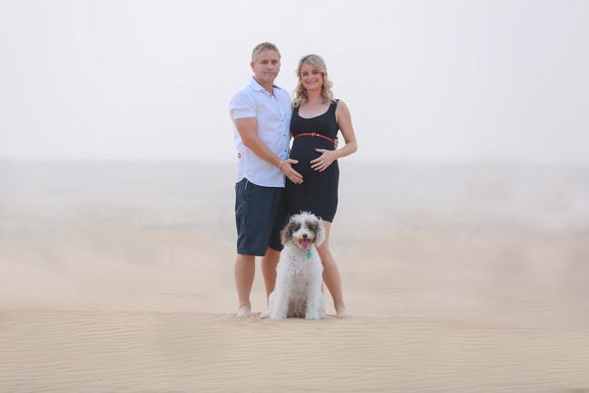 Dubai desert maternity
