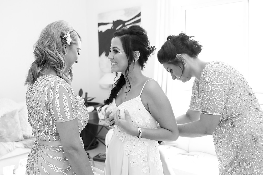 Bride and Bridesmaid preparation