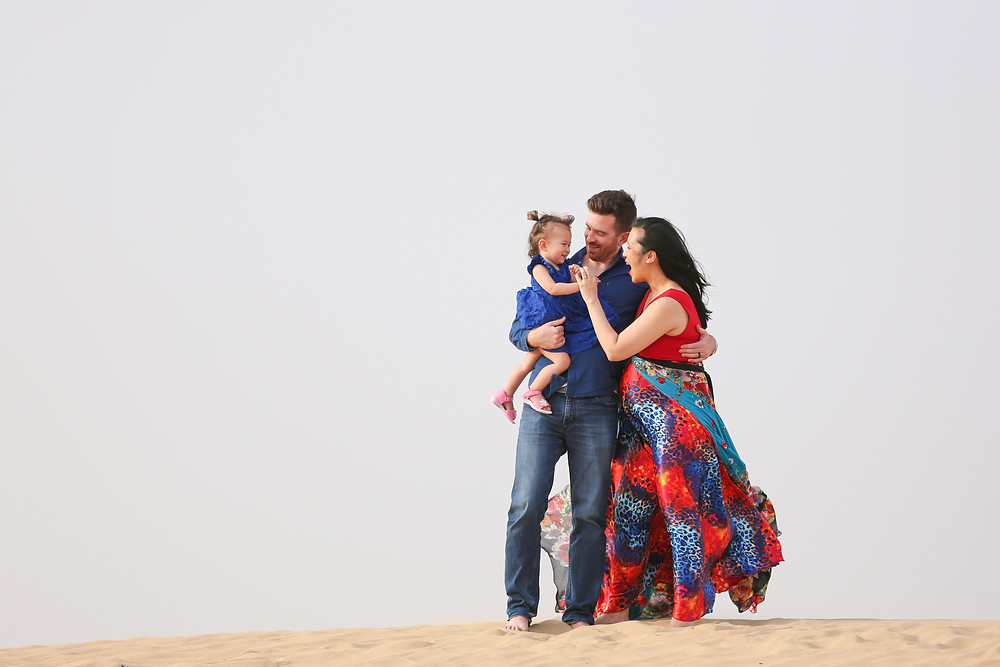 Dubai desert maternity, family photography