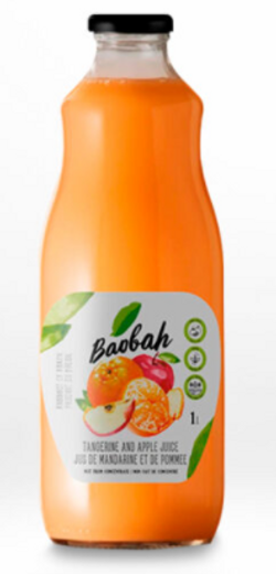 Tangerine and Apple Juice