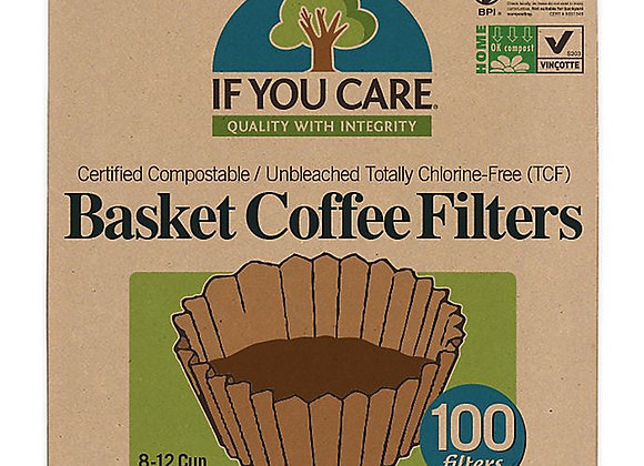 If You Care 8-12 Cup Basket Coffee Filters