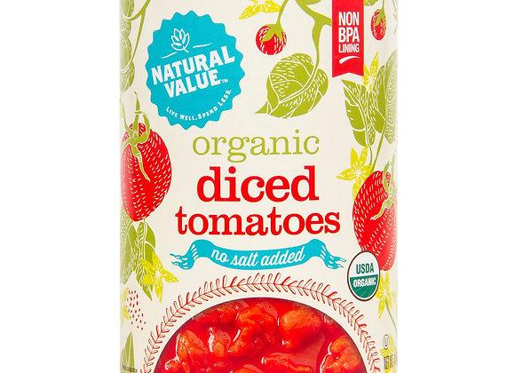 Diced Tomatoes, No Salt