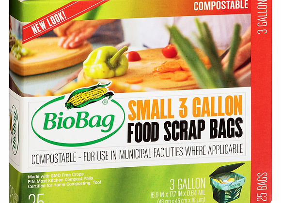 Biobag Food Waste Bags, 3 Gallon