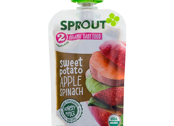 Sprout Baby Food, Sweet Potato/Apple/Spinach