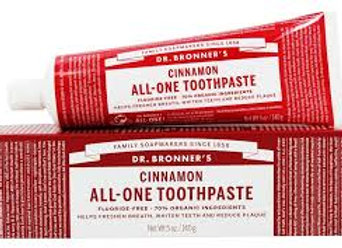 Dr. Bronner's All One Toothpaste, Cinnamon