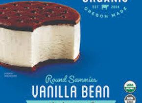 Alden's Organic Round Sammies, Vanilla Bean Ice Cream