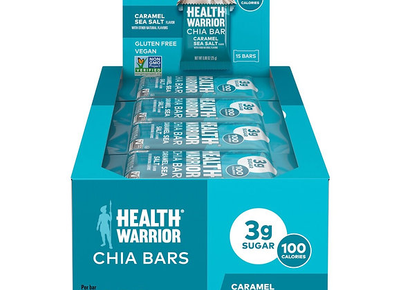 Health Warrior Caramel Sea Salt Chia Bar