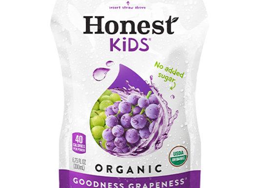 Honest Kids, Goodness Grape Juice, Pouches