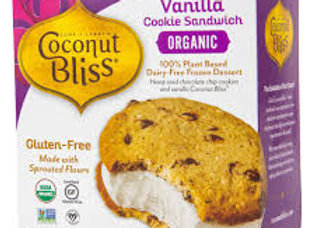 Coconut Bliss Vanilla Ice Cream Sandwiches