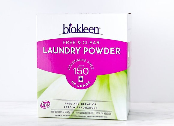 Biokleen Laundry Powder, Free and Clear, 10 pound box
