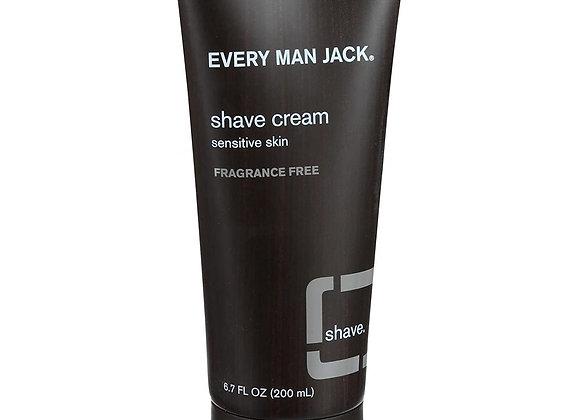 Every Man Jack Shave Cream, Fragrance Free