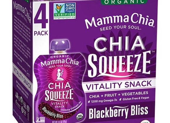 Mamma Chia Blackberry Squeeze, 4 Pack