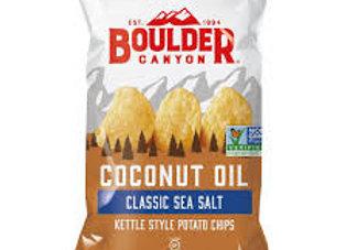 Boulder Canyon Coconut Oil Chips, Sea Salt