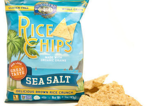 Lundberg Sea Salt Rice Chips, Snack Size