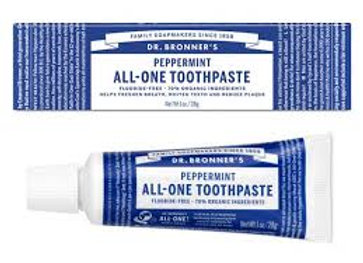 Dr. Bronner's All One Toothpaste, Travel Size, Peppermint
