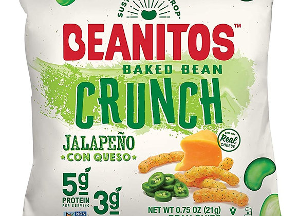 Beanitos Baked Bean Crunch Chips, Jalapeno Queso