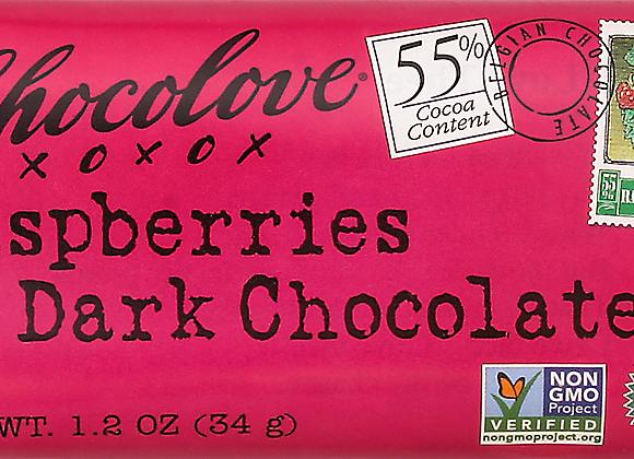 Chocolove Mini Raspberry Dark Chocolate Bar