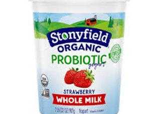 Stonyfield Whole Milk Yogurt, Strawberry