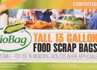 Biobag Food Waste Bags, 13 gallon