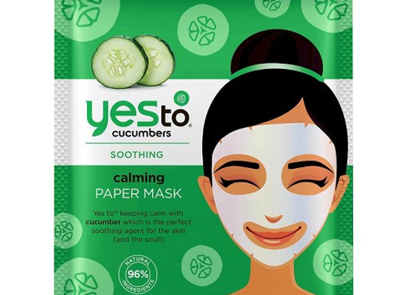 Yes to Cucumbers Paper Face Mask