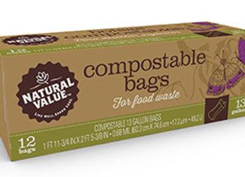 Compostable Trash Bags 13 Gal
