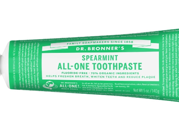 Dr. Bronner's All One Toothpaste, Spearmint
