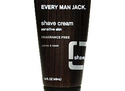 Every Man Jack Travel Size Shave Gel, Fragrance Free