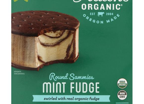 Alden's Round Sammies, Mint Fudge Ice Cream
