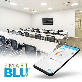 Smart Blu Bluetooth Lighting Controls Meeting Room