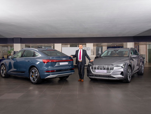 Audi plugs in to electric mobility - Launches 3 electric SUVs.