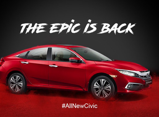 Honda Cars India launches the Iconic All-New 10th Generation Honda Civic in India