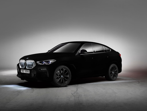 New BMW X6 as a spectacular show car: world's first vehicle in Vantablack®.