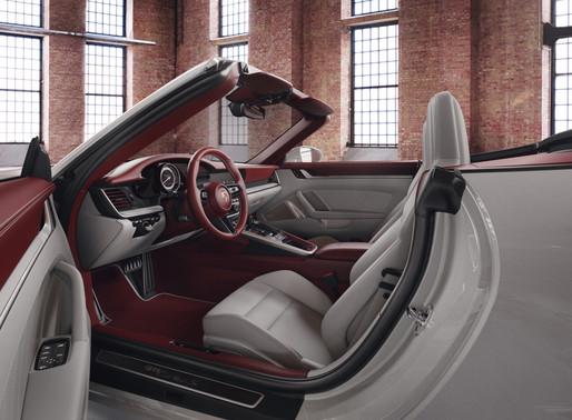 Elegant two-tone leather interior from Porsche Exclusive Manufaktur