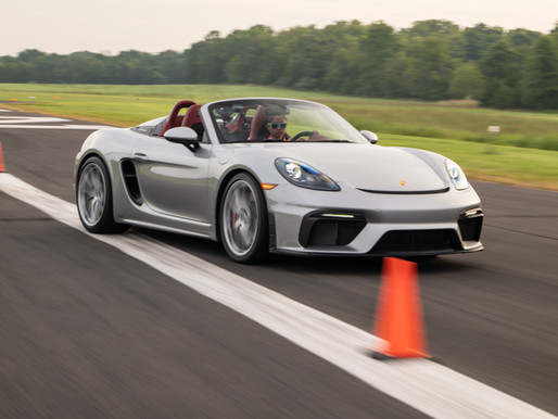 Porsche 718 Spyder Sets New Guinness World Records™ Title Achievement for Fastest Vehicle Slalom!