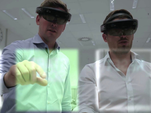 Porsche developed an augmented reality function to avoid mistakes when assembling electric drives!