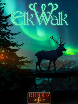 Elk Walk Coffee Label
